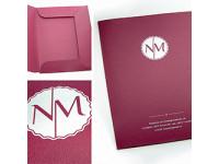 Печать и изготовление фирменных папок из  картон, дизайнерский картон, пластика