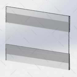 Держатель для ценника на скотче двойной 80х60 мм