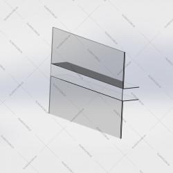 Ценник под стеклянную полку 100х70мм