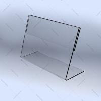 L-образный ценникодержатель 70х50мм