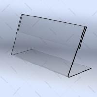 Угловая подставка для ценника 80х40мм