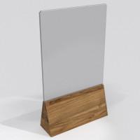 Менюхолдер А5 с деревянным основанием