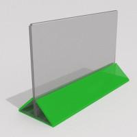 Горизонтальный тейбл тент Еврофлаер 100х210мм с цветной подставкой