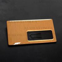 Бейджи металлические с полимерным покрытием с боковым окном 35х65 мм