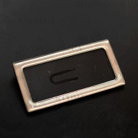 Бейджи металлические с полимерным покрытием 35х70мм