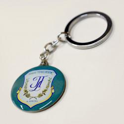 Брелок металлический заливной с логотипом