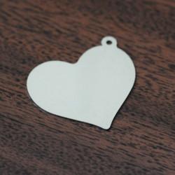 Брелки под нанесение логотипа сердце