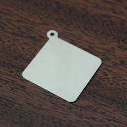 Брелки под нанесение с логотипом квадрат или ромб