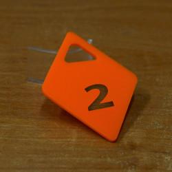 Гардеробный номерок акриловый GNA-03-14 (с прорезями)