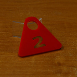 Гардеробный номерок акриловый GNA-03-15 (с прорезями)