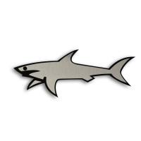 Металлический шильдик на авто эмблема Акула