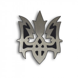 Металлический шильдик на авто эмблема Герб України