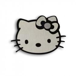 Металлический шильдик на авто эмблема Hello Kitty