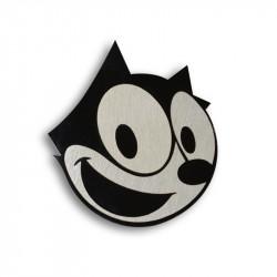 Металлический шильдик на авто эмблема кот Феликс (Felix the Cat)