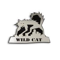 Металлический шильдик на авто эмблема WILD CAT