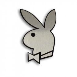 Металлический шильдик на авто эмблема заяц Playboy