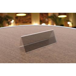 Наcтольная табличка акриловая для сменного изображения 210х60 мм