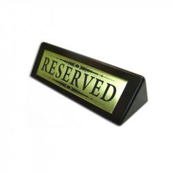 Наcтольная табличка металлическая на деревянной основе 150х50 мм