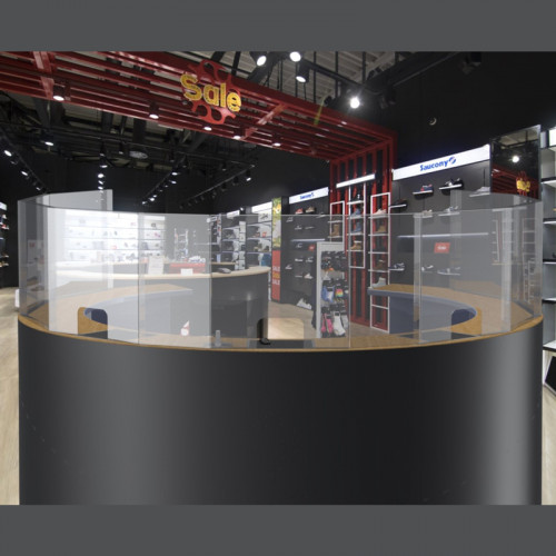 Защитный экран - ограждение c окошком. Секционная секция 850x500 мм